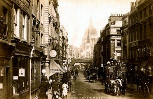 Fleet_Street._By_James_Valentine_c.1890.
