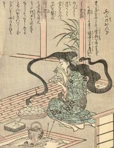 Ehon_Hyaku_Monogatari_Futakuchi-onna